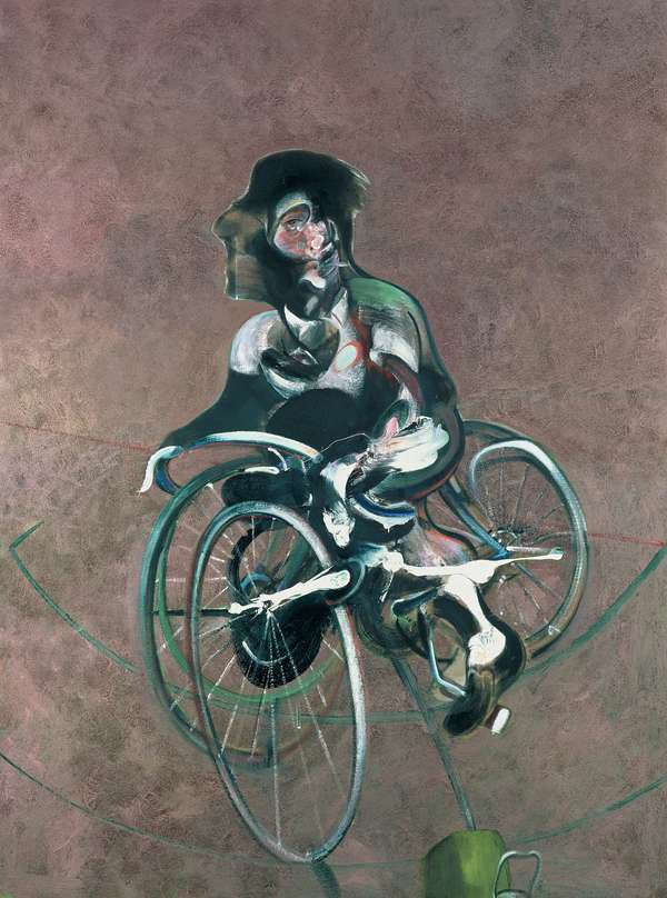 Francis Bacon, Portrait of George Dyer Riding a Bicycle, 1966
